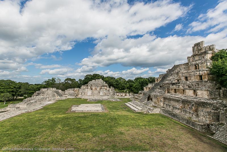 Древний город майя Эцна, пирамиды Эцна, Мексика; Edzna Mexico