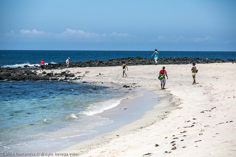 Пляж на острове Сан-кристобаль