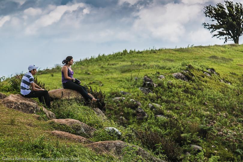 Лагуна Эль-Хунко, Галапагосские острова, остров Сан-Кристобаль; Laguna El Junco, Galapagos, San Cristobal island