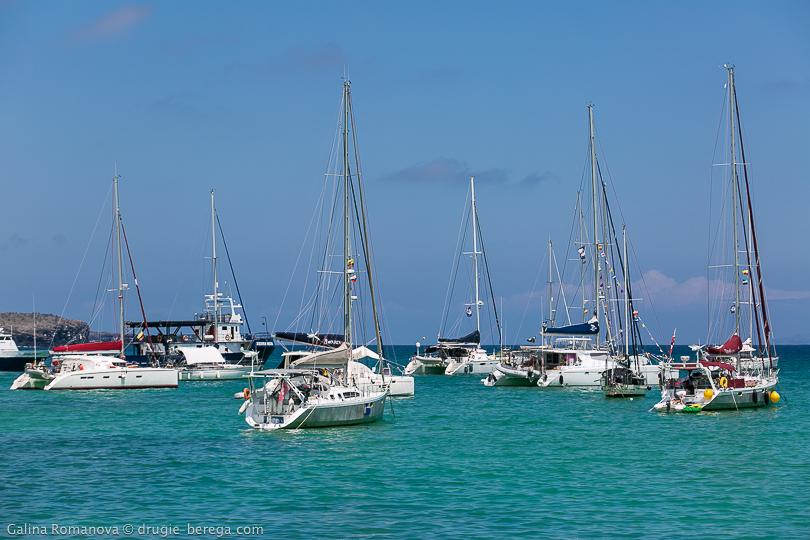 Яхт-причал у острова Санта-Крус