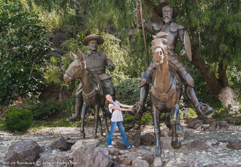 В Гуанахуато множество скульптур, посвященных Сервантесу и его персонажам
