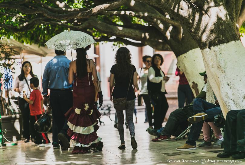 Гуанахуато, сад Юнион днем