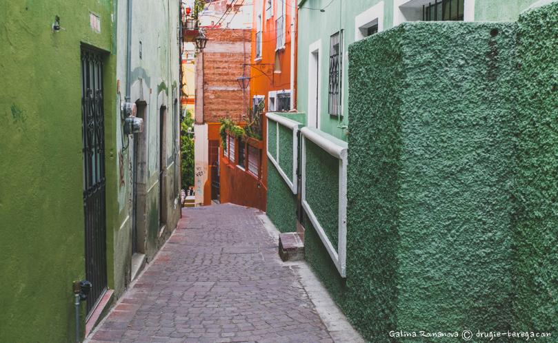 Узкие цветные улочки Гуанахуато