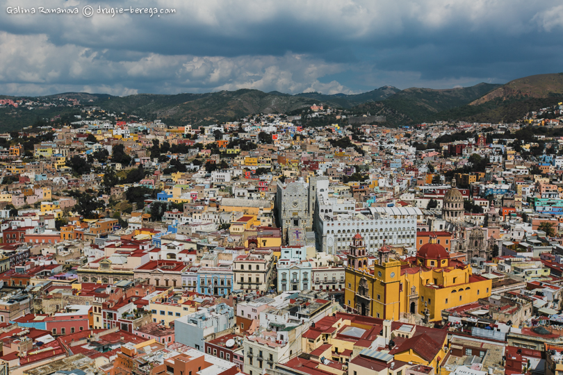 Вид на Гуанахуато (Guanahuato) со смотровой площадки