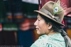 Шляпа с перышком - распространенный головной убор на территории Эквадора