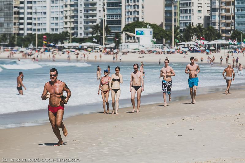 Рио-де-Жанейро, пляж Копакобана; Rio de Janeiro Copacabana beach