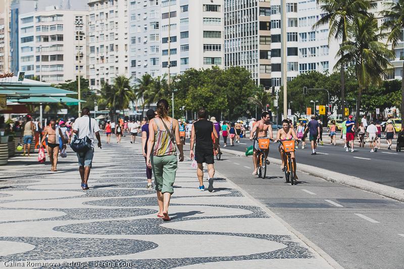 Рио-де-Жанейро, набережная Копакобана; Rio de Janeiro Copacabana