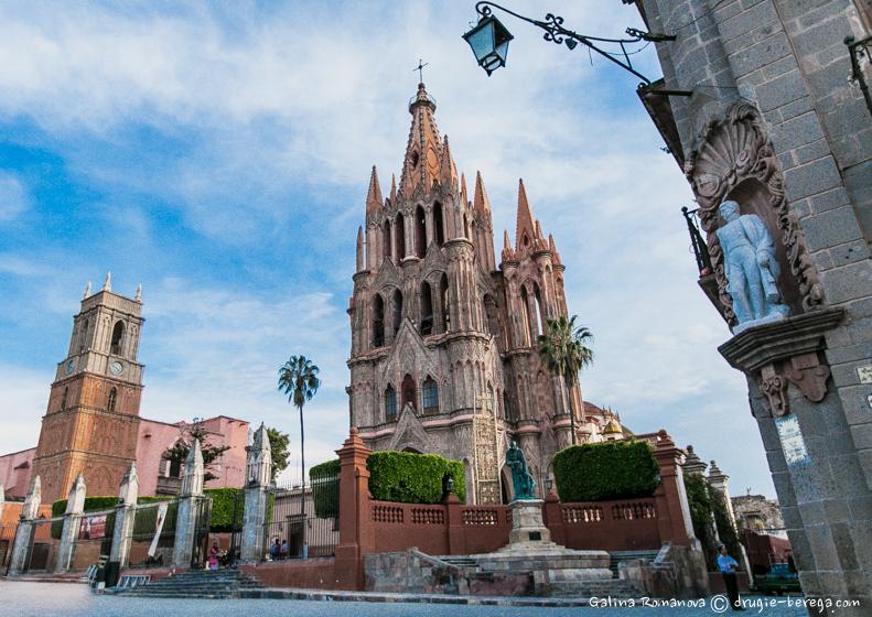 Сан-Мигель-де-Альенде, церковь Паррокия; San Miguel de Allende, Parroquia de San Miguel Arcangel