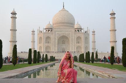 Индия, Тадж-Махал. Выход в сари.