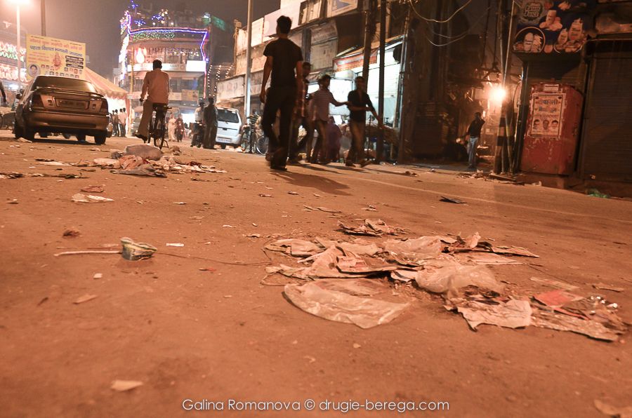 Индия, Дели, мусор на улицах