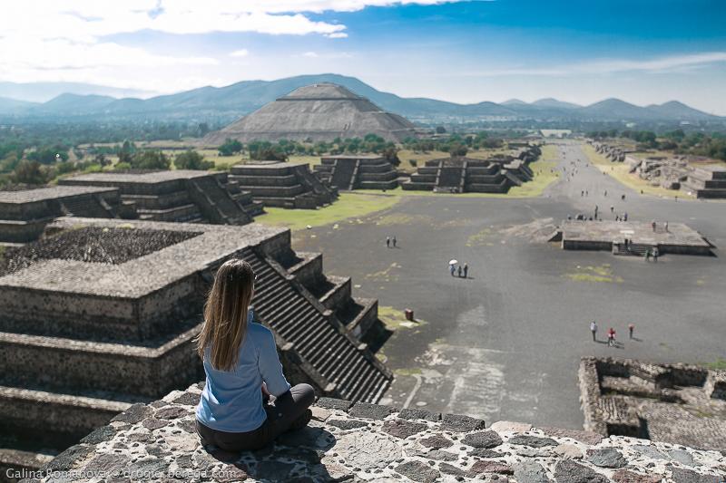 Пирамиды Теотиуакан, Мексика; Teotihuacan Mexico