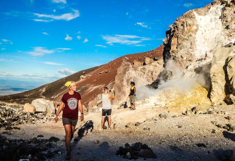 вулкан Серро-Негро. Volcano Cerro Negro, Nicaragua